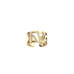 Anello in acciaio dorato Les Georgettes Perroquet 12 mm ref.70314430108058