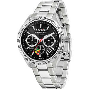 OROLOGIO UOMO IN ACCIAIO SECTOR - R3273613002  COLLECTION #695 ECO-ENERGY