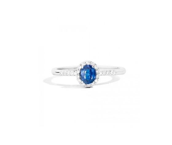 Zbrecarlo anello iris con zaffiro e diamanti