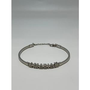 Bracciale con nome Maria in argento zirconato e stelle laterali