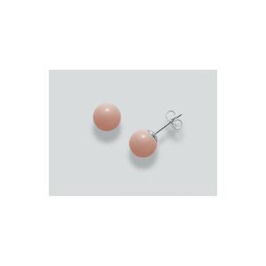 orecchini miluna in argento e corallo rosa kterra e mare