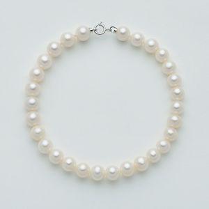 Bracciale Donna Miluna con Perle originali e chiusura in oro bianco PBR2214