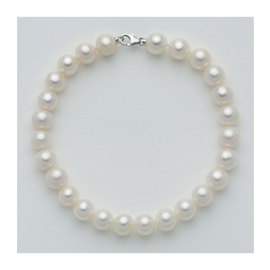 Bracciale Donna Miluna con Perle originali e chiusura in oro bianco PBR1676