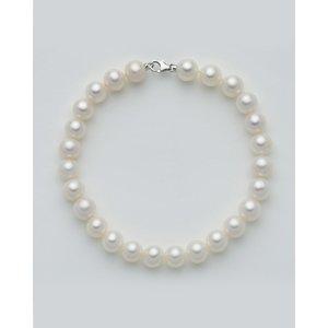 Bracciale donna in oro bianco 18 kt  e perle originali Miluna PBR1677