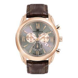 orologio cronografo uomo con cinturino in pelle  Philip Watch Seahorse R8271996006