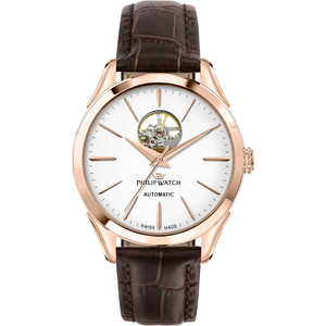 orologio automatico uomo in pelle Philip Watch Roma R8221217001
