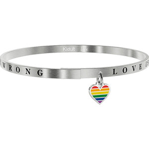 BRACCIALE KIDULT LOVE IN ACCIAIO 316L - 731739 LOVE IS NEVER WRONG