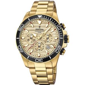 Orologio DORATO cronografo da uomo  Festina collezione Prestige F20364-1