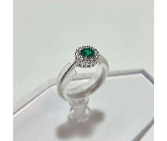 Anello pietra verde tondo 1