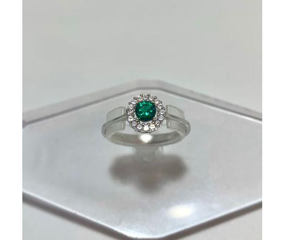 Anello pietra verde tondo