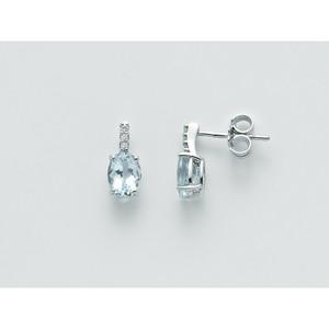 Orecchini donna Miluna con acquamarina e diamanti