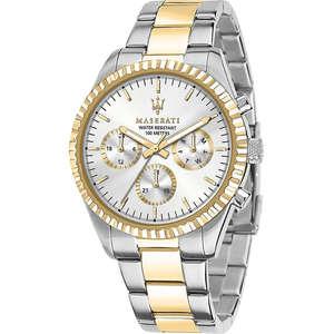 orologio multifunzione uomo in acciaio bicolore Maserati Competizione  R8853100021