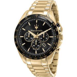 Orologio cronografo uomo in acciaio dorato Maserati Traguardo