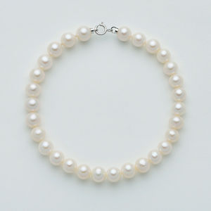 Bracciale di perle con chiusura in oro bianco 18 kt Miluna