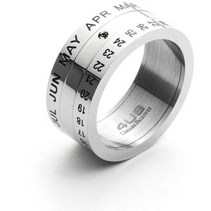 anello uomo a fascia in acciaio 4US Cesare Paciotti collezione Date