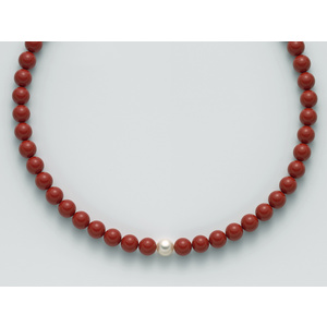 Collana  pasta di Corallo Rosso Miluna PCL4438