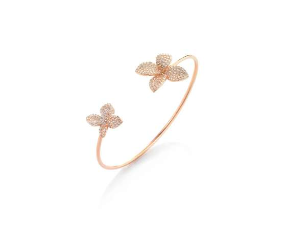 Br072rb bracciale rigido due fiori argento bagno rosa.jpg
