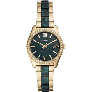 Orologio solo tempo donna  oro e verde Fossil Scarlette Mini ES4676