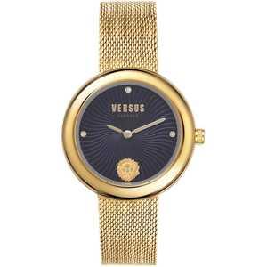 Orologio donna in acciaio dorato cinturino maglia milano  Versus Lea  VSPEN0519