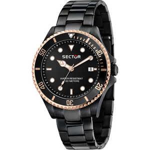 Orologio solo tempo uomo SECTOR 230 in acciaio nero R3253161039