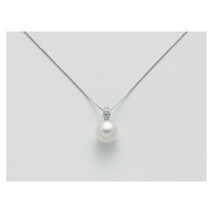 MILUNA Collana donna con perla e diamante - PCL5654
