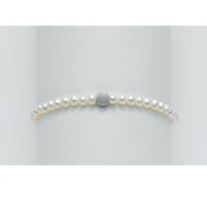 Bracciale Perle Originali con sfera e chiusura in oro Miluna PBR893