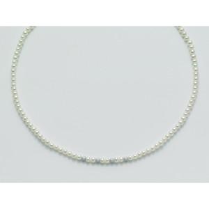 Collana di perle portafortuna originali Miluna e sfere in Oro Bianco PCL1836