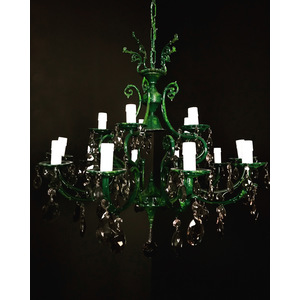 BIG GREEN HOPE CHANDELIER