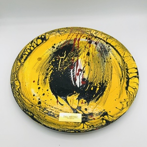 ABSTRACT YELLOW PLATE
