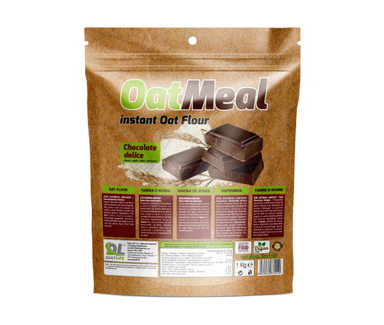 Oat meal instant out flour chocolate delice
