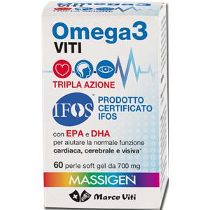 OMEGA 3 TRIPLA AZIONE 60 perle soft gel MARCO VITI