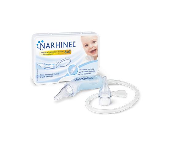 Narhinel aspiratore nasale soft. aspiratore nasale per neonati e bambini. rimuove il muco e previene le congestioni nasali