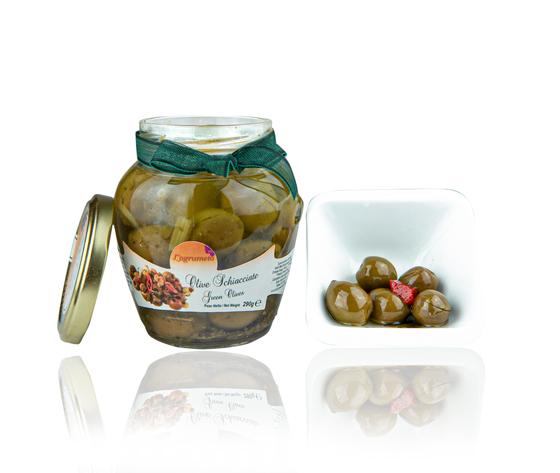 Olive schiacciate sottolio agrumeto %2810 of 12%29
