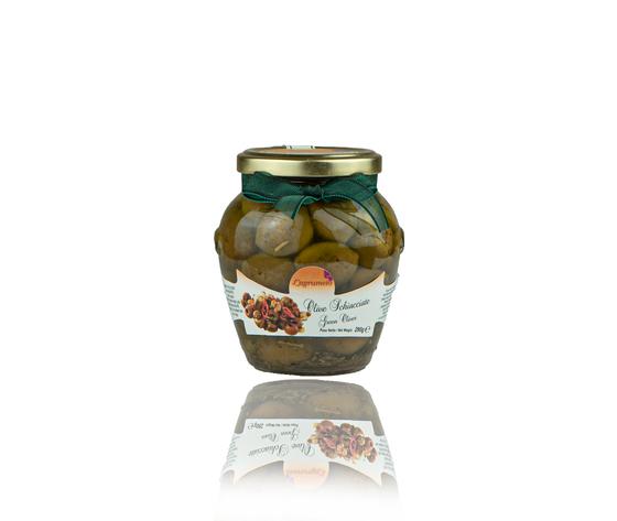 Olive schiacciate sottolio agrumeto %284 of 12%29