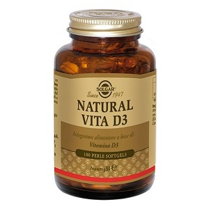 Natural Vita D3 Solgar 100 Perle