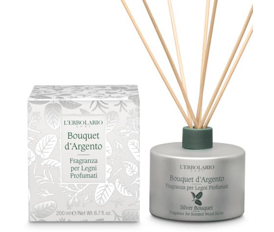 L'erbolario bouquet d'argento fragranza per legni profumati 200ml