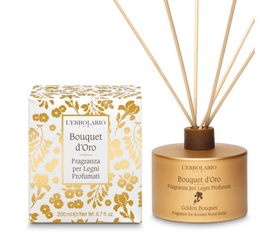 L'erbolario bouquet d'oro fragranza per legni profumati 200ml