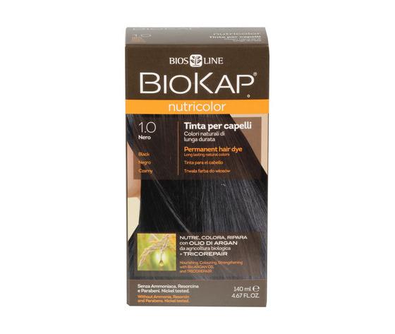 Tinta per capelli biokap 1 0 nero 100662