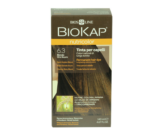 Tinta per capelli biokap 6 3 biondo scuro dorato 100723