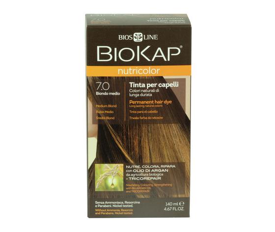 Tinta per capelli biokap 7 0 biondo medio 100709