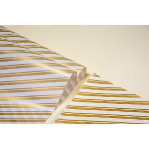 10Kg Carta Pelleaglio righe Oro 75x100