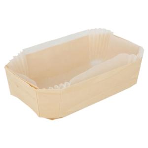 Barchette in legno con stampo in silicone 14x9x4,5cm