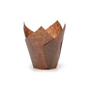 Pirottini da cottura in carta marroni Ø50mm