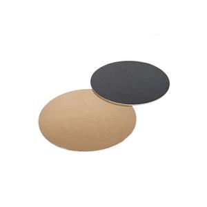 Vassoi disco sottotorta neri e dorati