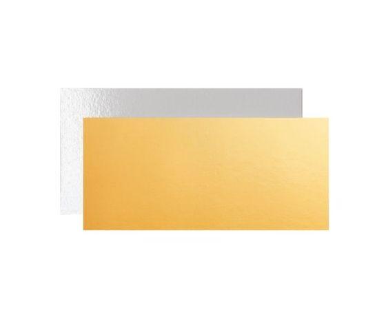 Vassoio sottotorta rettangolare oro e bianco