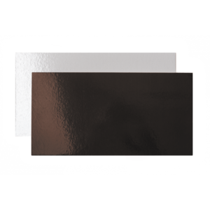 Vassoi rettangolari sottotorta bianchi e marroni