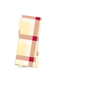 "Busta porta posate stampa ""scozzese crema/bordeaux"" f.25x11 - 1000pz"
