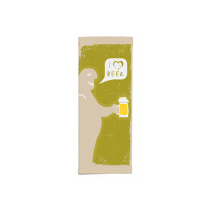 """Busta porta posate avana stampa """"boccale"""" f.25x11 - 1000pz"""