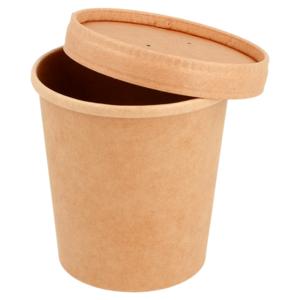 Contenitore per zuppe con coperchio 480ml (25 Pezzi)