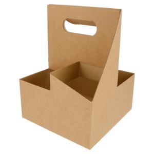 Portabicchieri in cartoncino 4 posti 18x18x24cm (20 Pezzi)